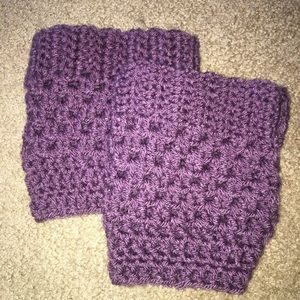 Accessories - Purple hand crocheted boot cuffs